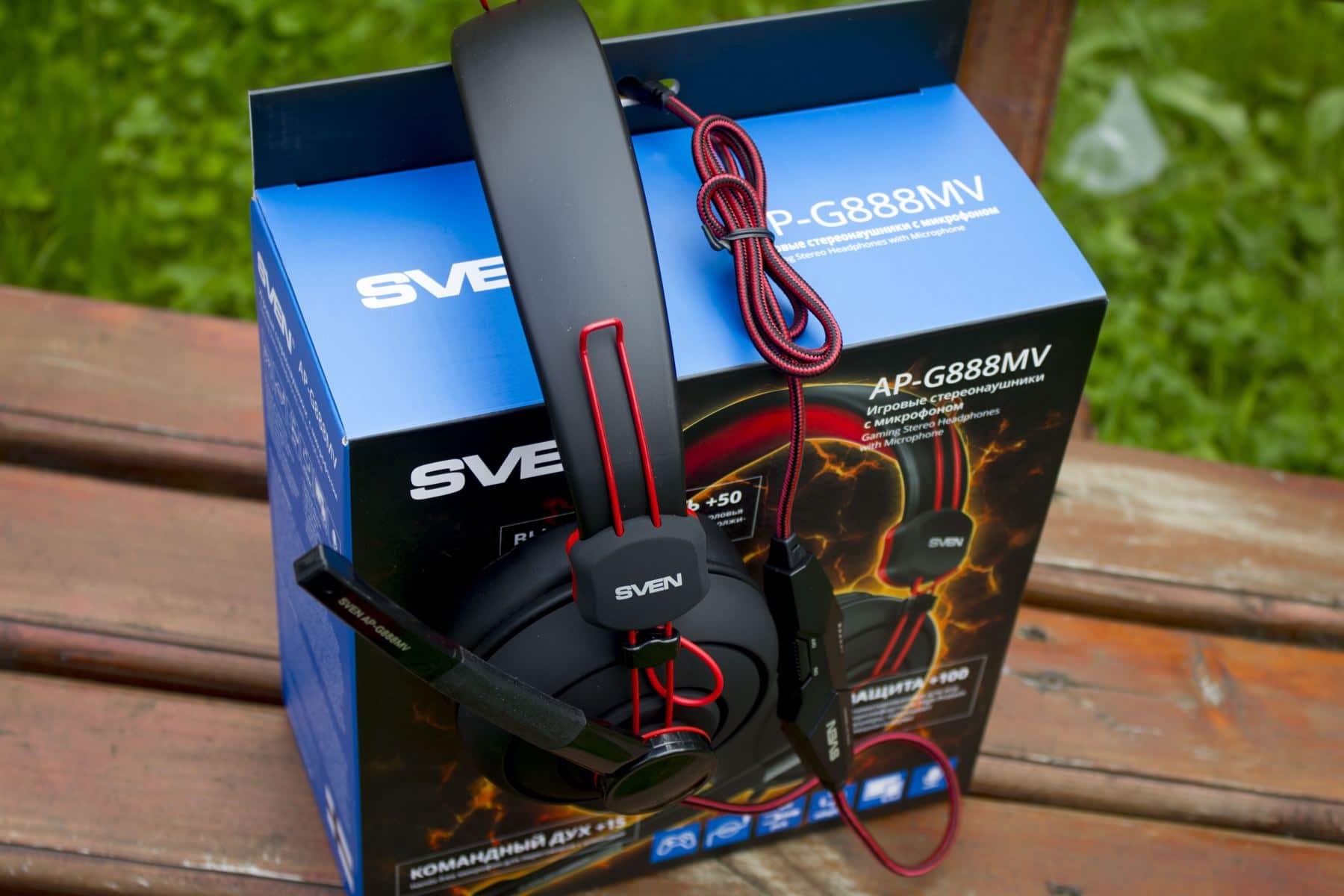 Обзор игровых наушников Sven AP-G888MV