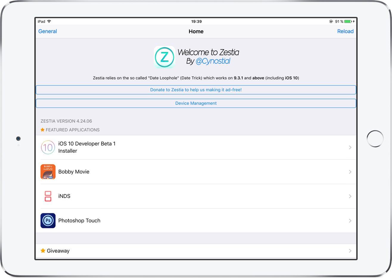 Zestia iOS 10 9