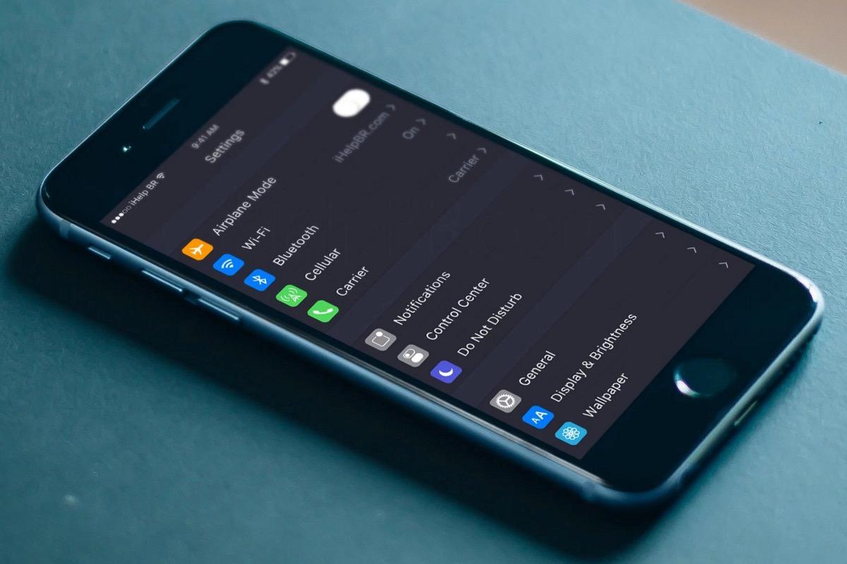 В iOS 10 обнаружили темный режим оформления