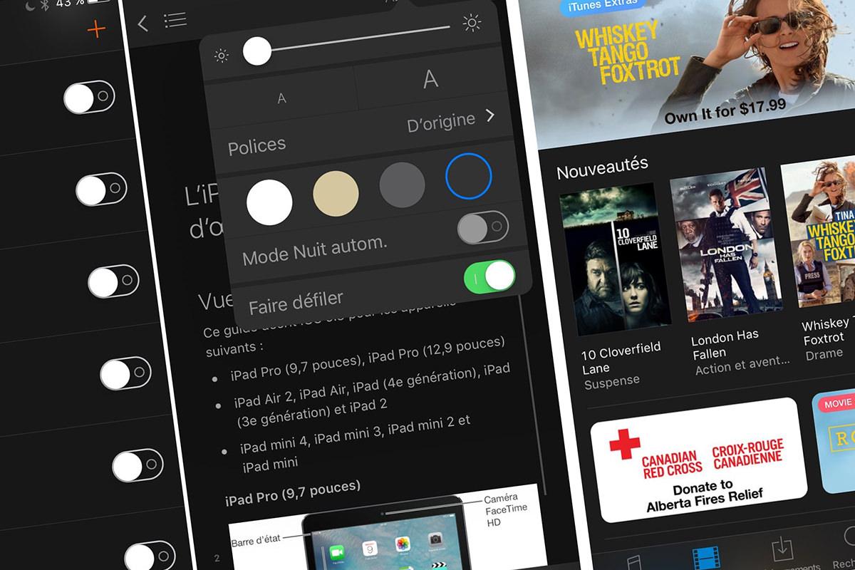 Темная тема оформления iOS 10 станет эксклюзивной особенностью iPhone 7 и iPhone 6s