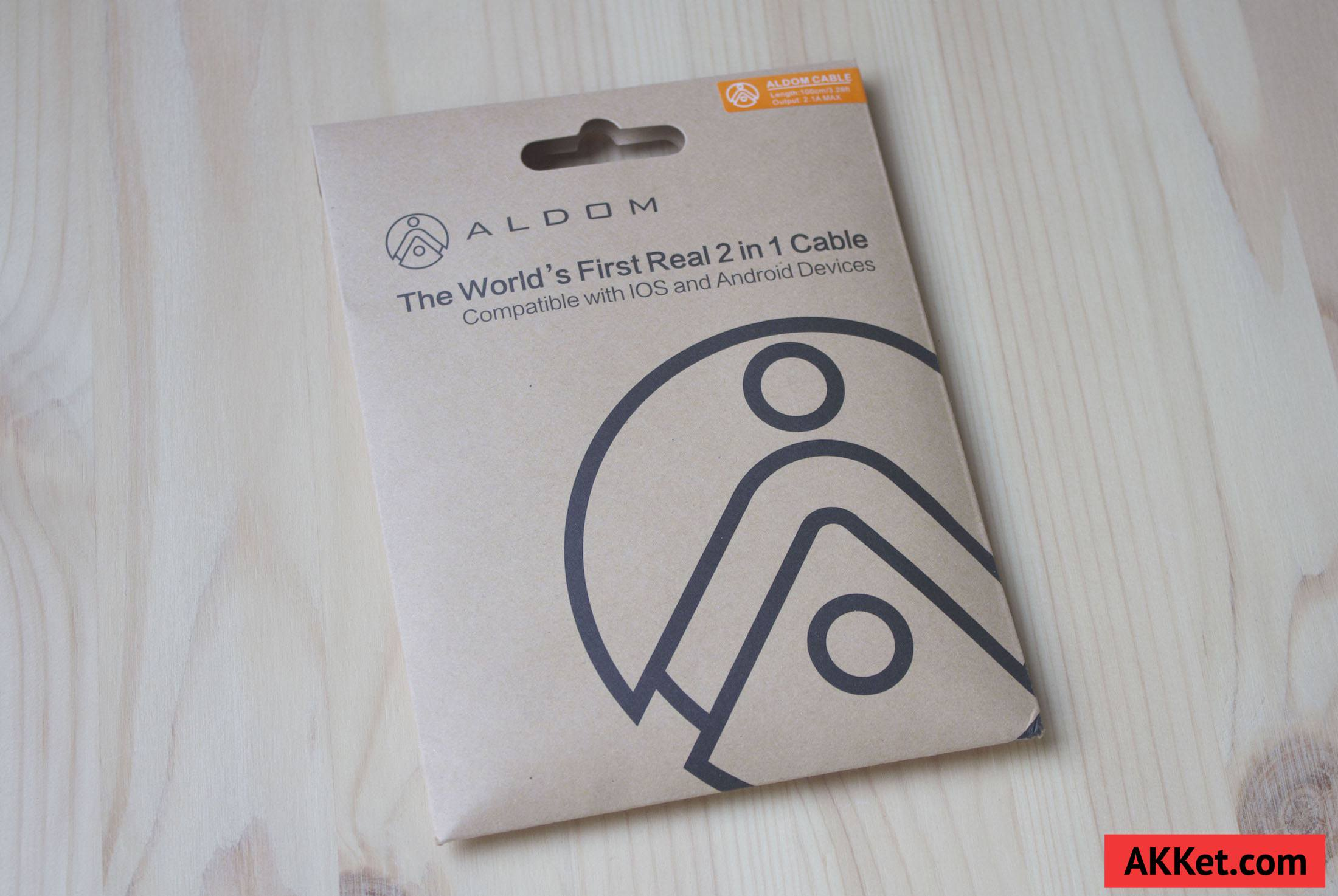 ALDOM Nylon Cable Lightning microUSB 1