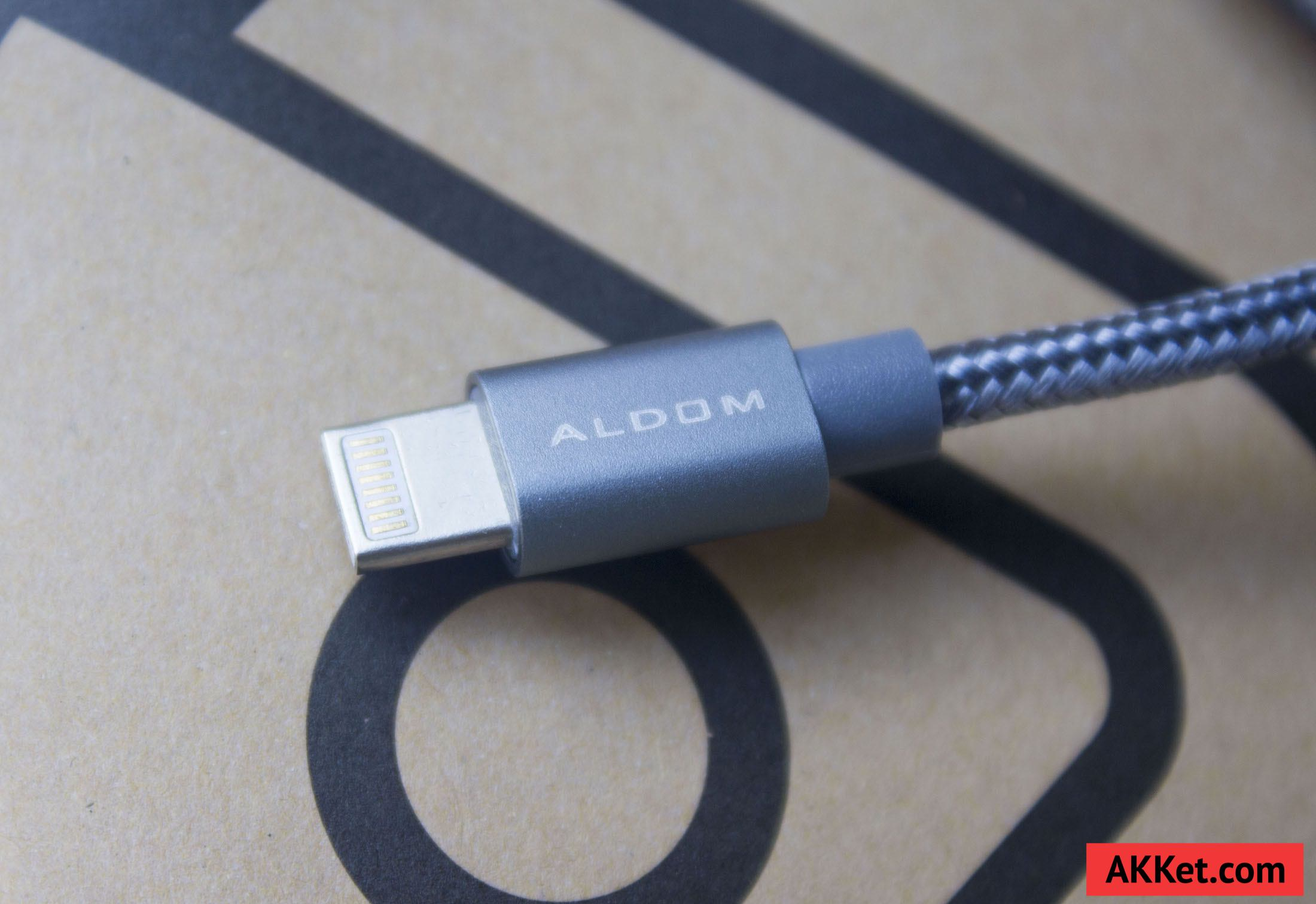 ALDOM Nylon Cable Lightning microUSB 7