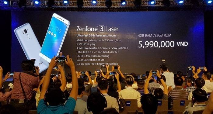 Asus Zenfone 3 Laser и Zenfone 3