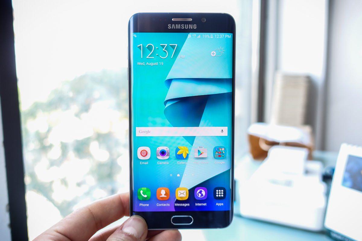 Samsung Galaxy Note S7 top