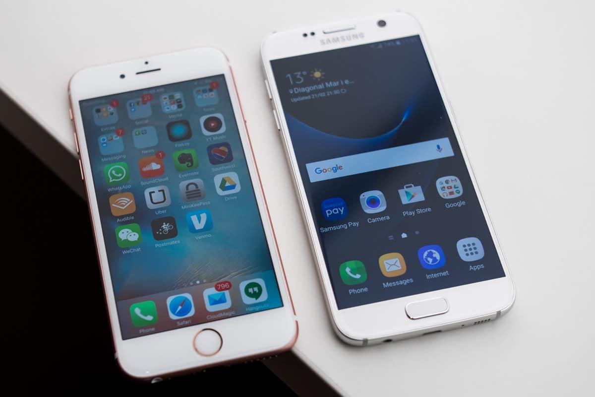 Samsung Galaxy S7 apple iPhone 6s 2