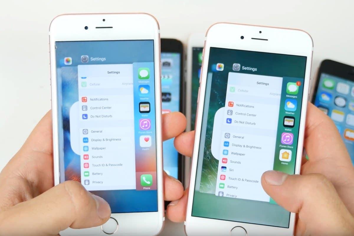 iOS 10 iPhone 6 SE 6s iOS 9.3.2 test battery 0