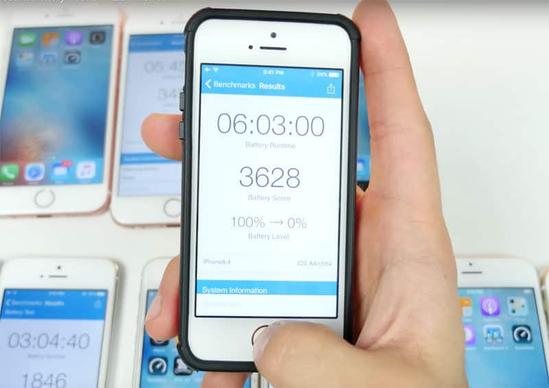 iOS 10 iPhone 6 SE 6s iOS 9.3.2 test battery 7