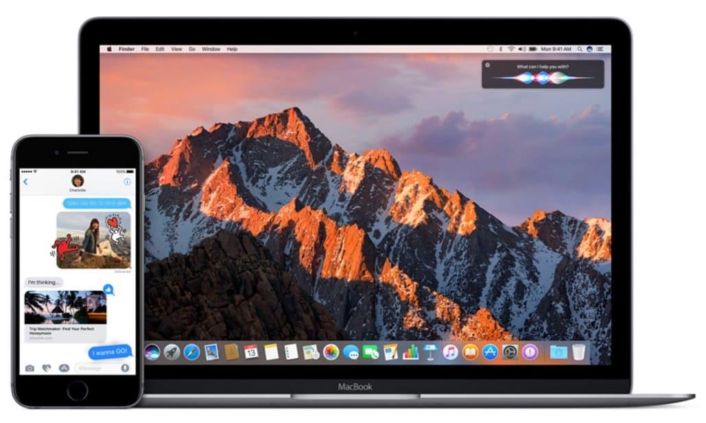 macOS Sierra iOS 10