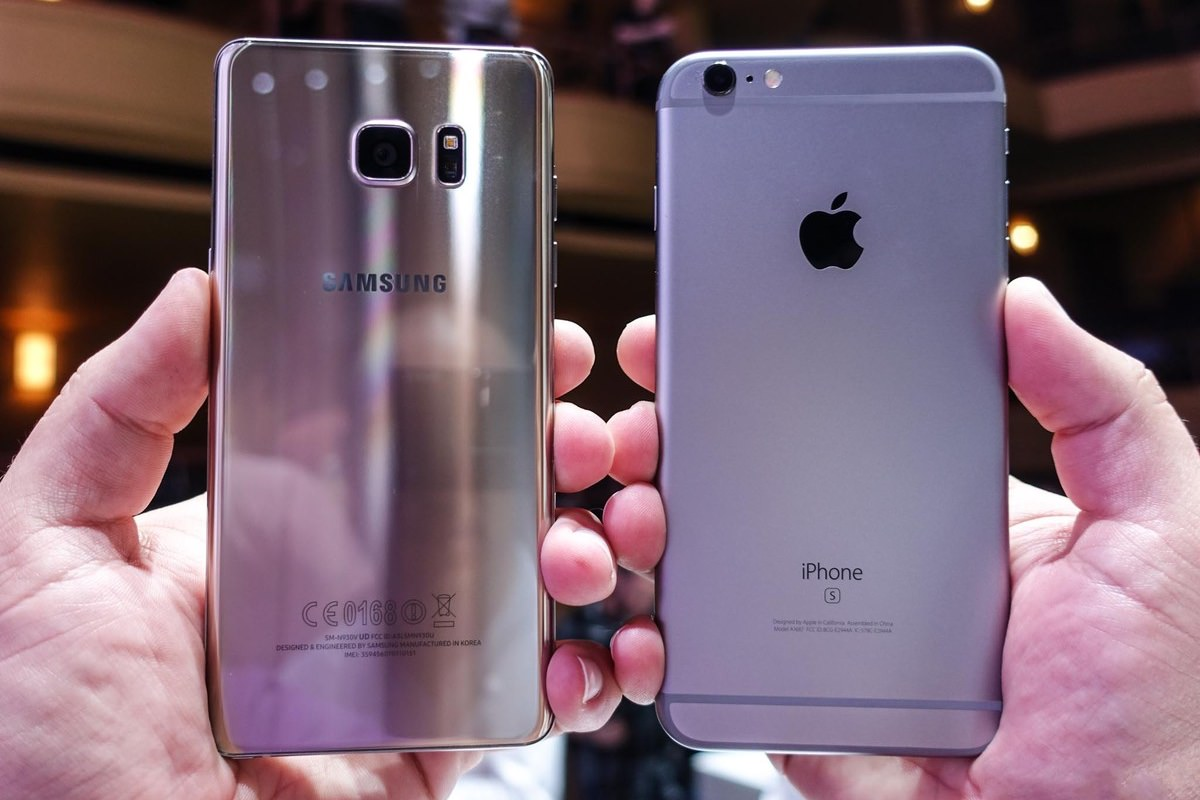 Apple iPhone 6s Plus Samsung Galaxy Note 7 vs. review 2