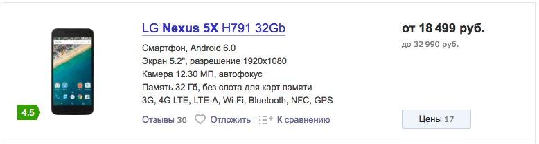 Google Nexus 5X Nexus 6P