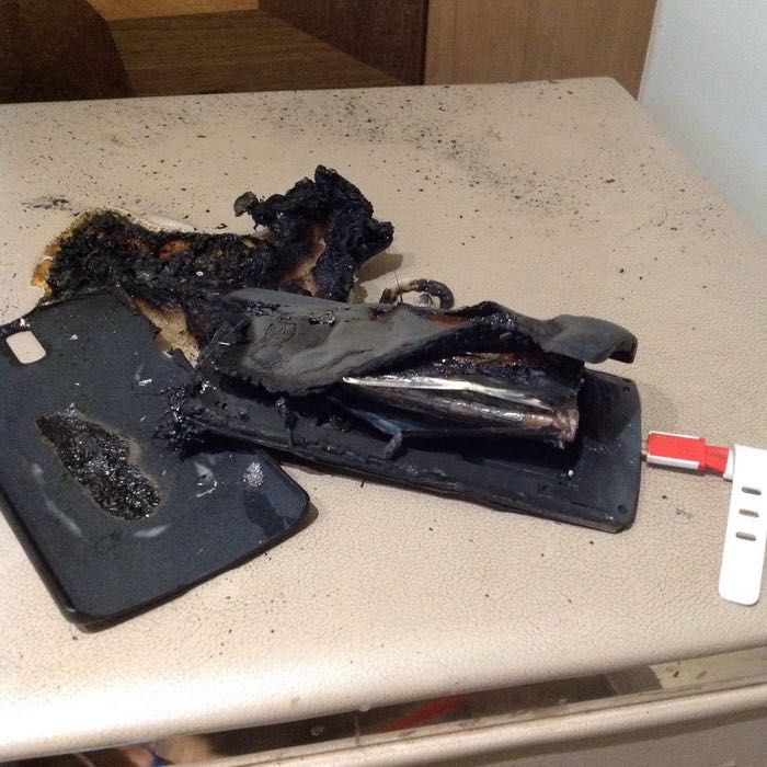 OnePlus burn Fire 3