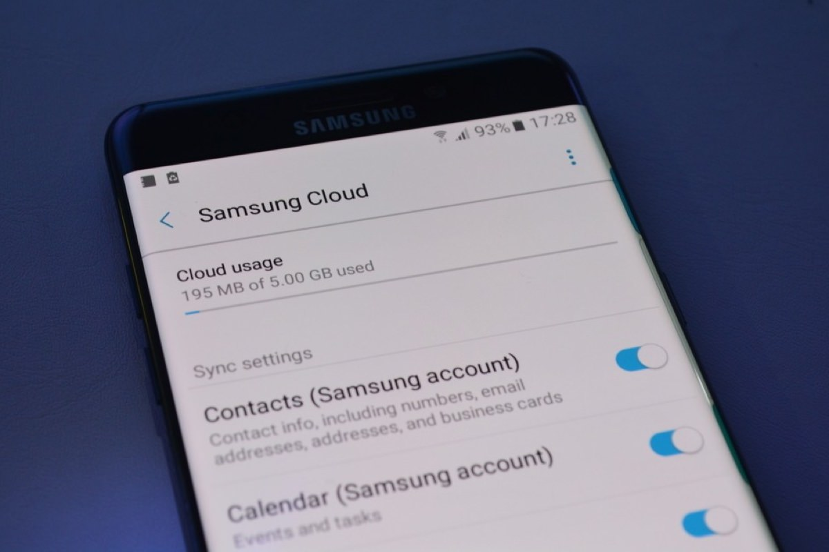 Samsung Cloud Galaxy S7 edge update