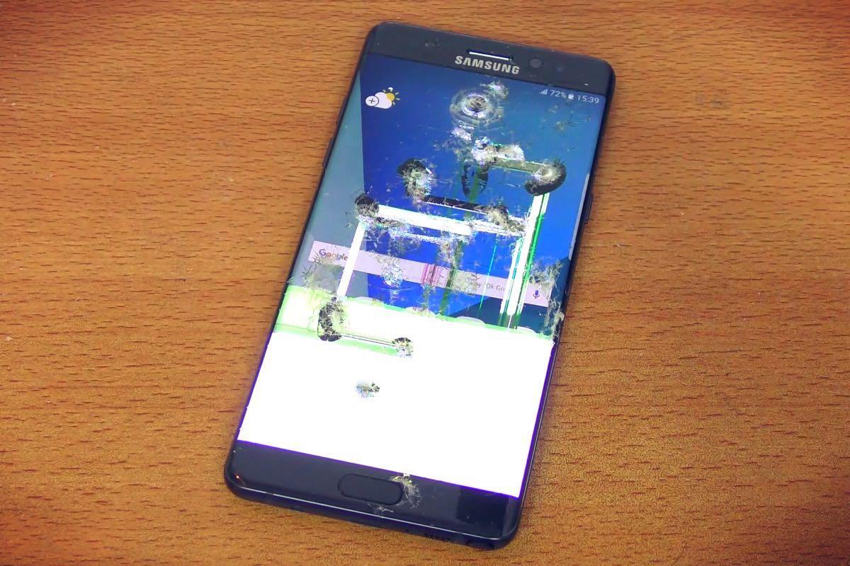 Samsung Galaxy Note 7 Test Crash 1