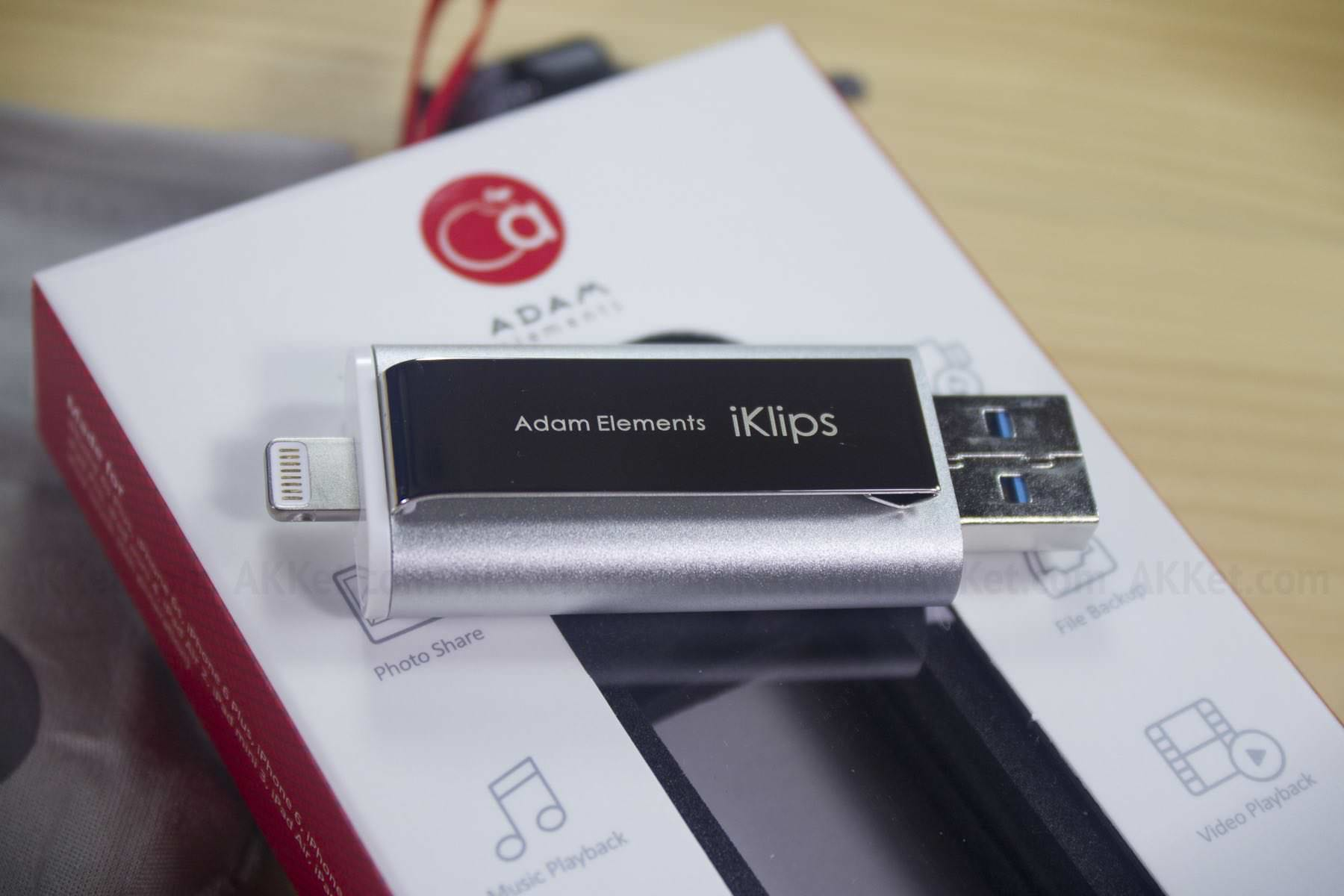 iKlips Adam Elements Lightning Flash Drive Review iPhone iPad iPod Touch Buy Russia 0