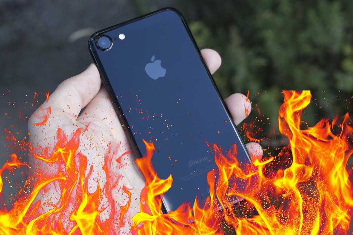 Apple iPhone 7 Fire burn 4