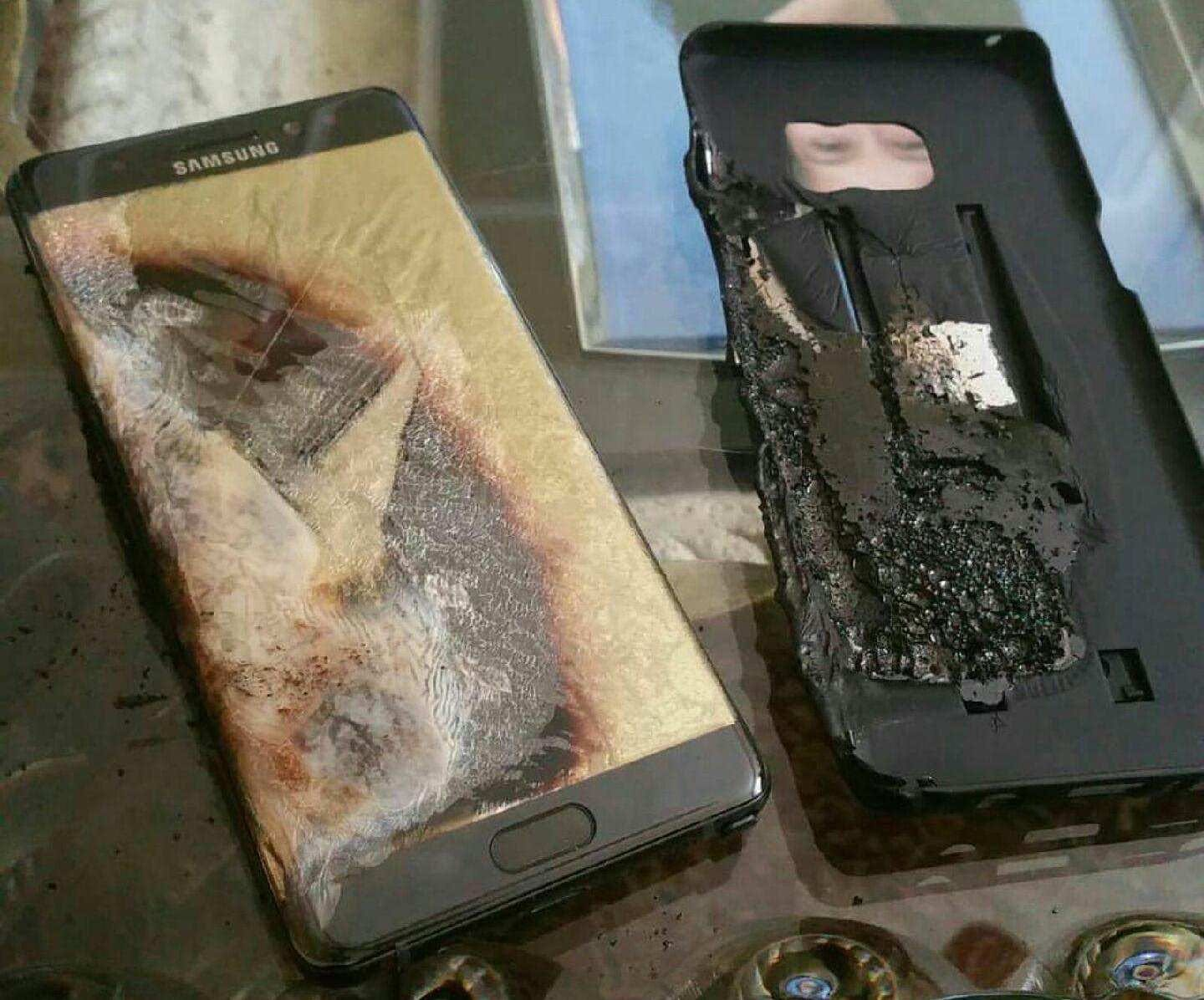 Samsung Galaxy Note 7 Fire Burn 2