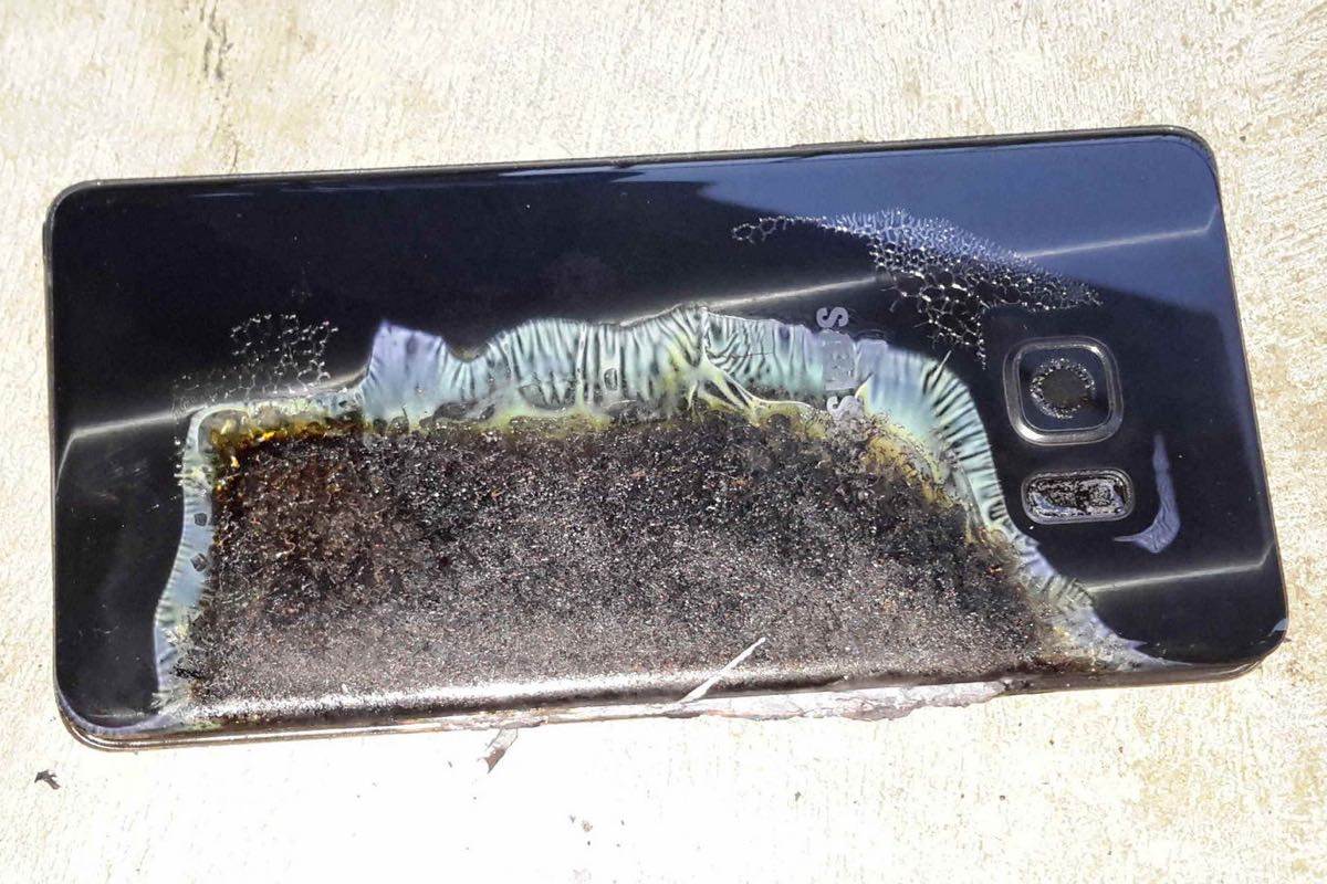 Samsung Galaxy Note 7 Fire Burn