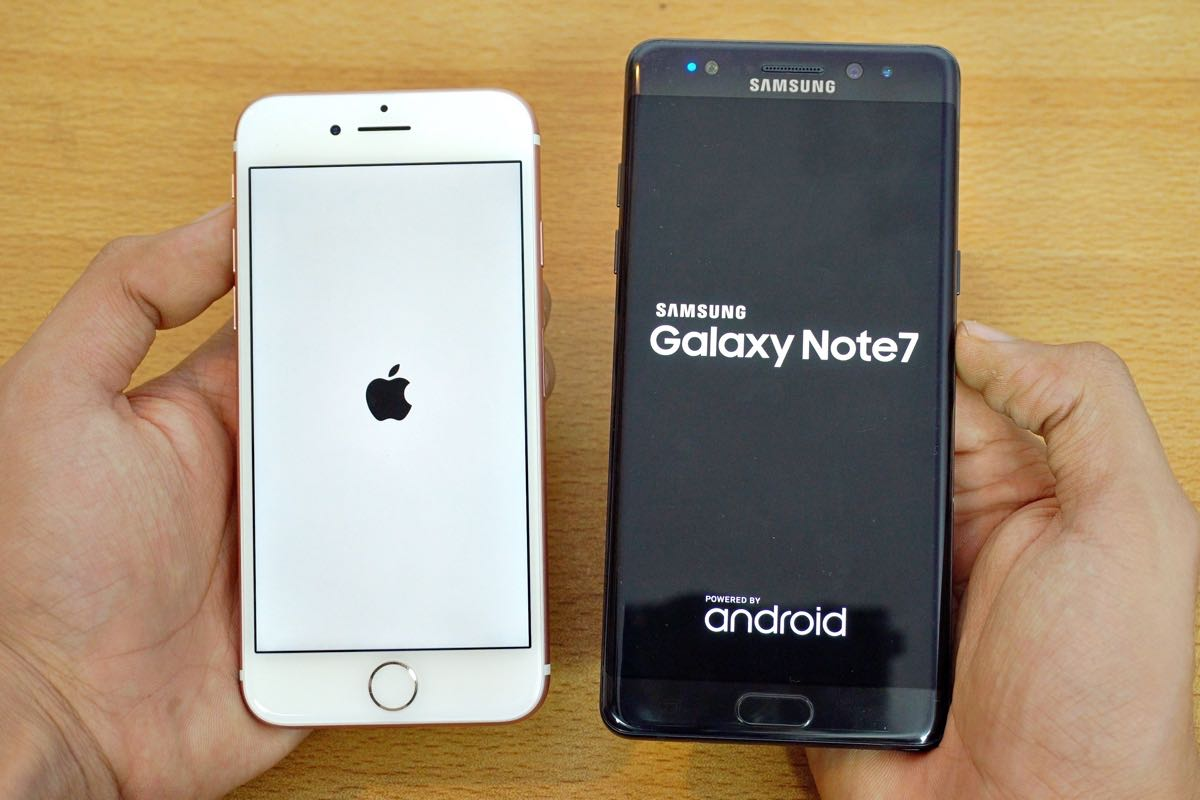 Samsung Galaxy Note 7 iPhone 7 Plus review