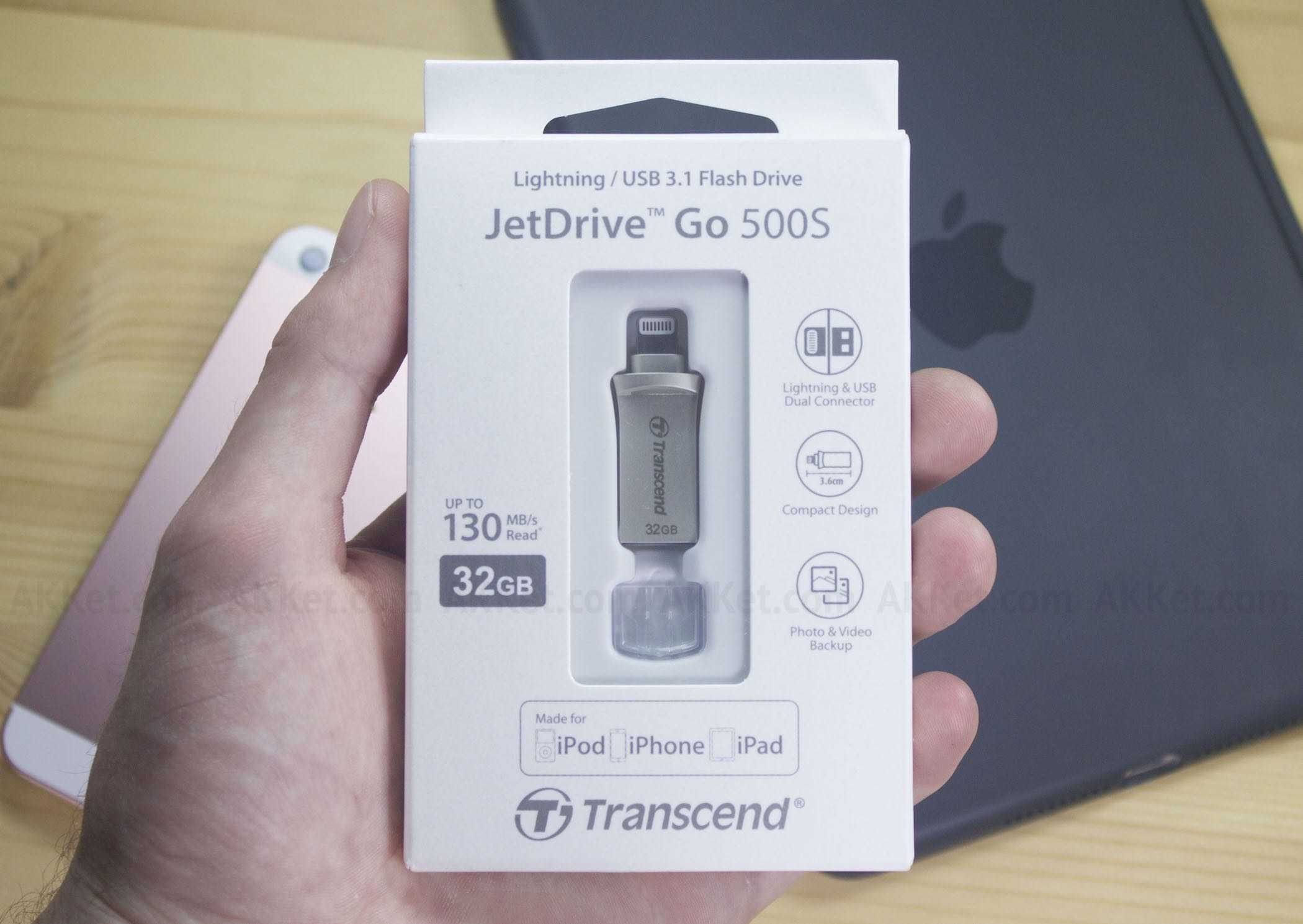 Transcend JetDrive Go 500S iPhone iPad iPod Touch Drive Flash Review 5