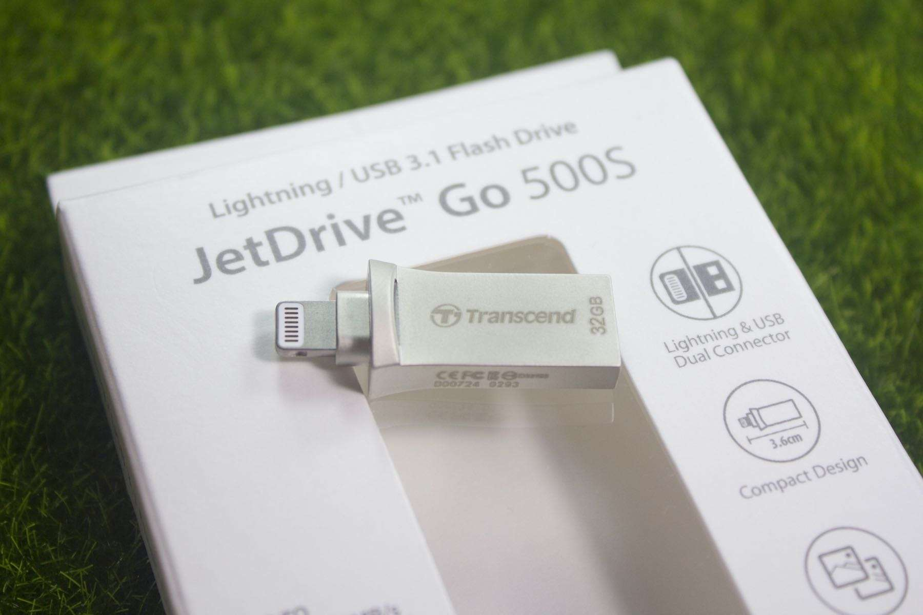 Transcend JetDrive Go 500S iPhone iPad iPod Touch Drive Flash Review