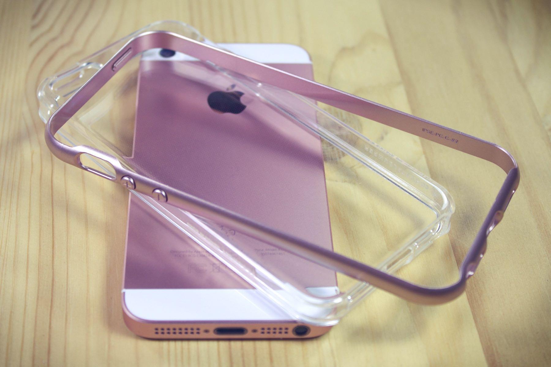 VRS Design Crystal Bumper Rose Gold Case iPhone SE 0