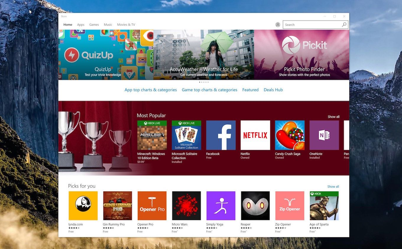 Windows Store Win32 Desktop Bridge