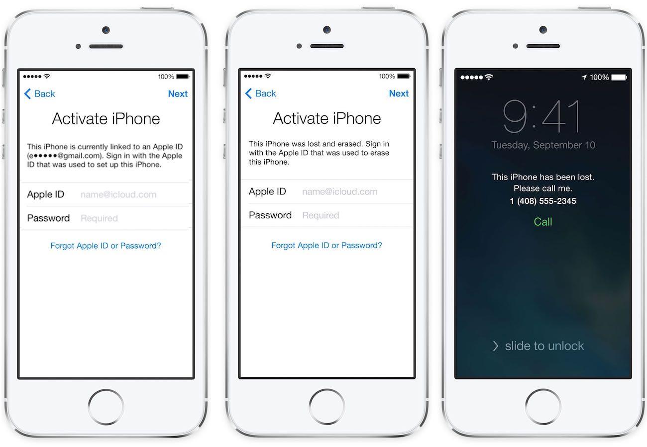 Apple iPhone Activation Lock iPhone 7 iPhone 7 Plus iOS 10 2