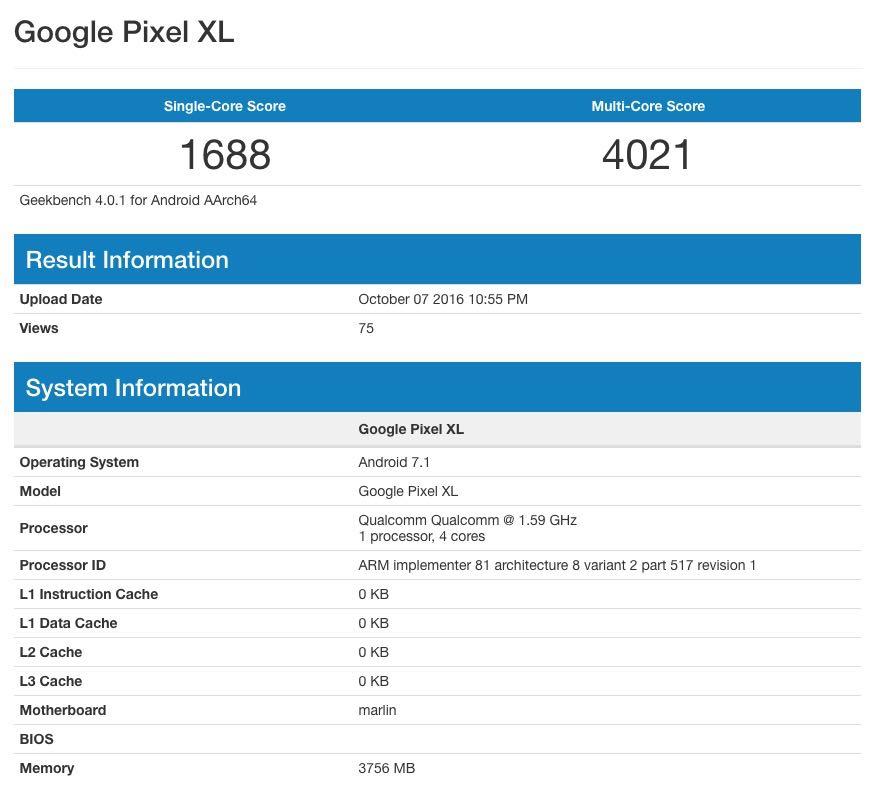 Google Pixel XL iPhone 7 iPhone 6s