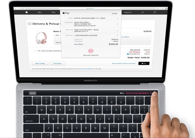 MacBook Pro Apple Pay