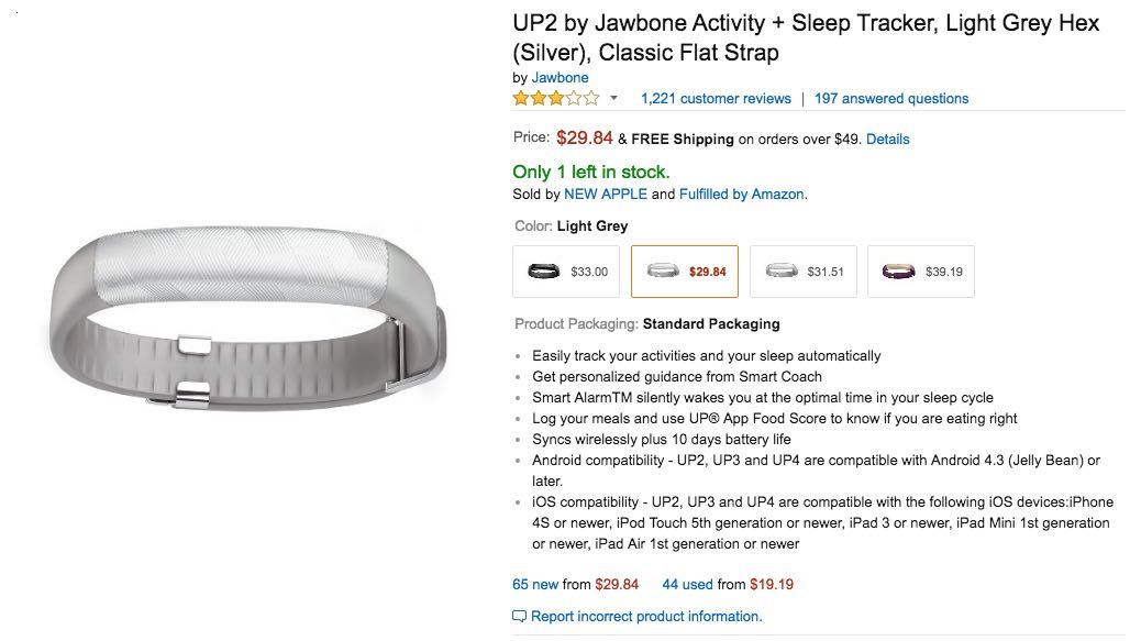 jawbone up2 Amazon Buy Shop Russia USA