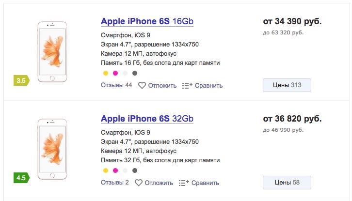Apple iPhone 6s Russia
