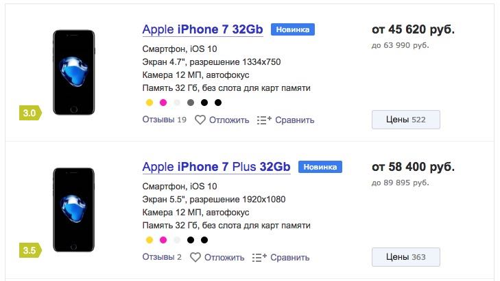 Apple iPhone 7 Plus Russia Buy