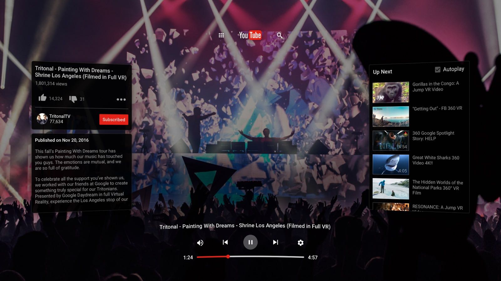 Google YouTube VR