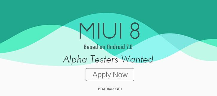 Xiaomi MIUI 8 Android 7.0 Nougat