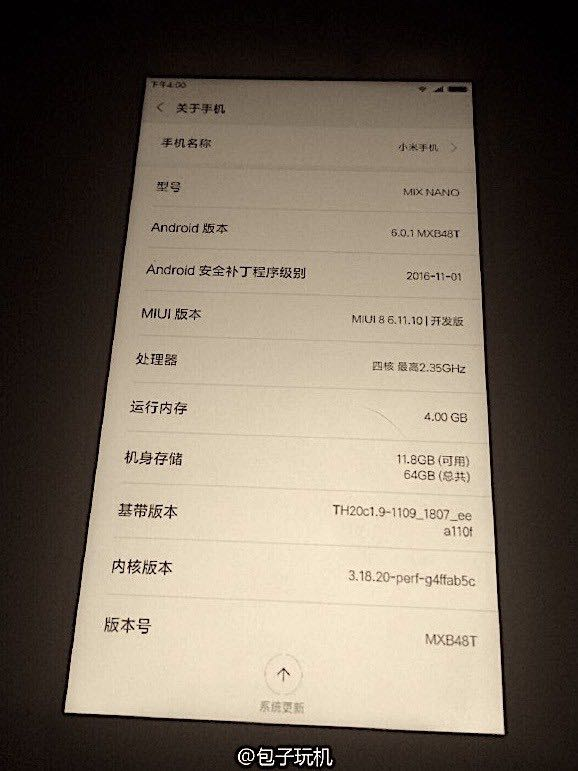 Xiaomi Mi Mix Nano 6