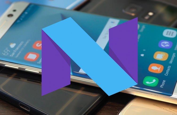 Android 7.1.1 Nougat Samsung Galaxy S7 1