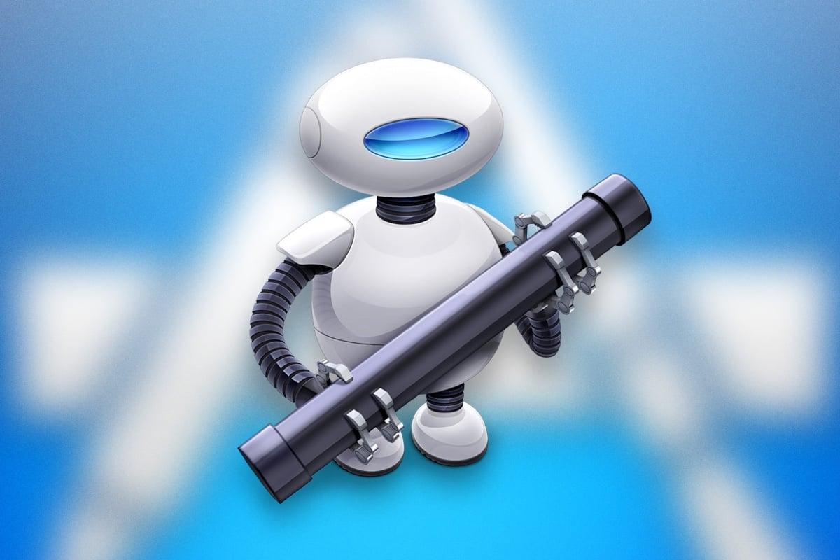 Apple Automator macOS Clean Desktop HotKey 0