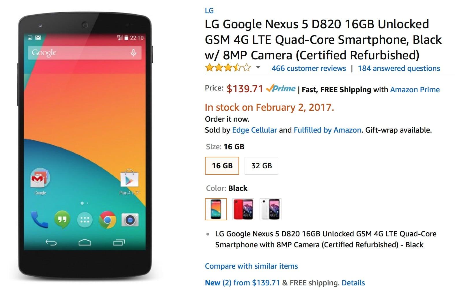 LG Google Nexus 5 Buy USA Russia