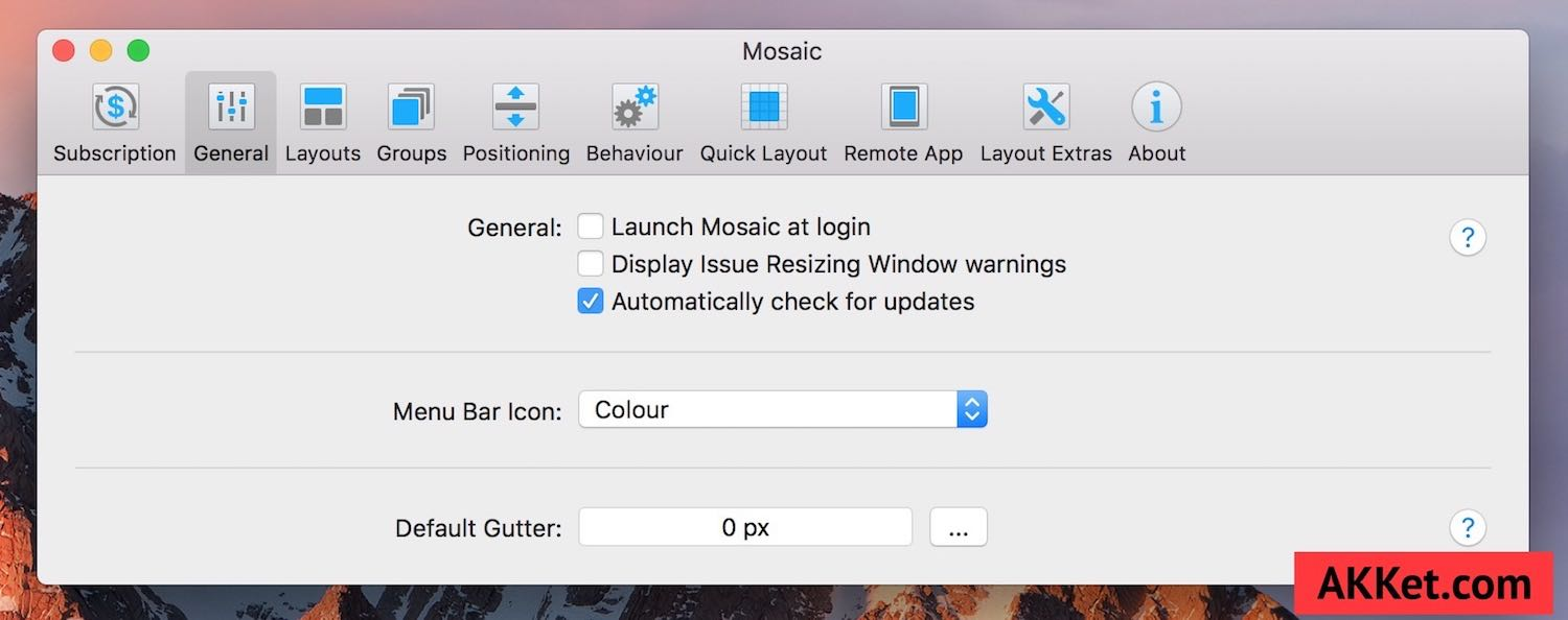 Mosaic Mac App Window Tidy Download review 1