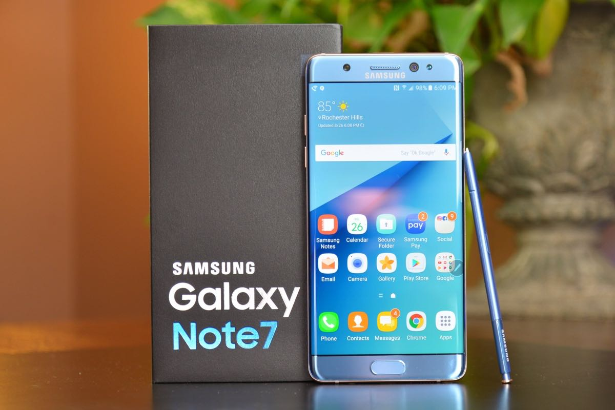 Samsung Galaxy Note 7 Fire 2017