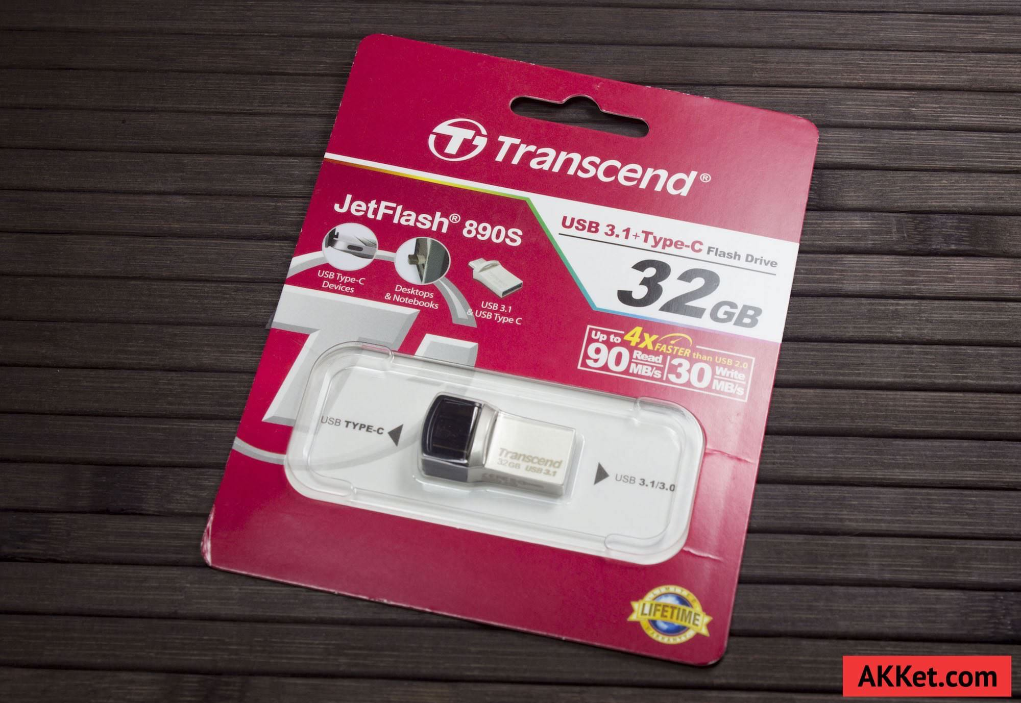 Transcend JetFlash 890S USB Type-C Review MacBook 12 Flash Drive 0 1