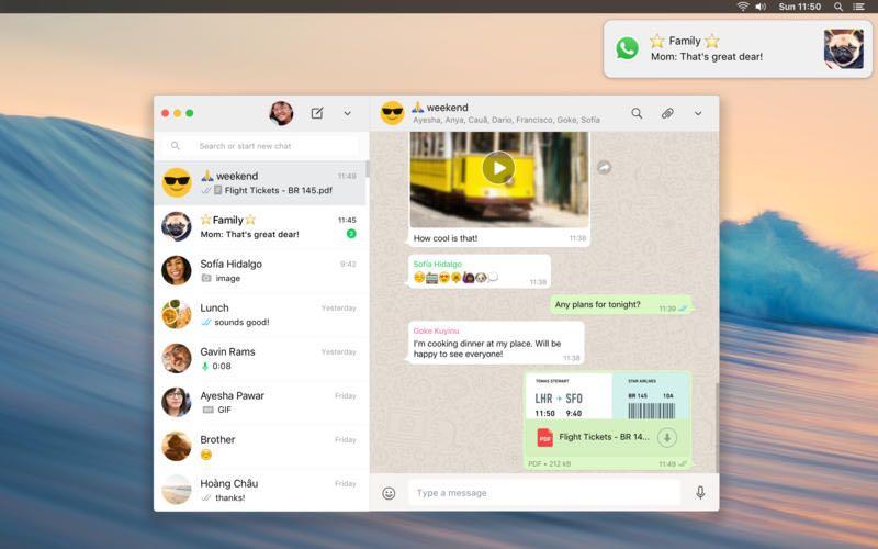 WhatsApp macOS OS X