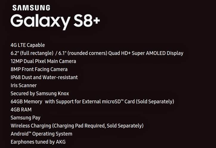 Samsung Galaxy S8+ Plus