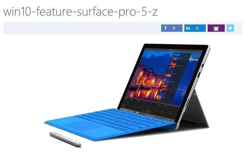 Surface Pro 5 Microsoft 2