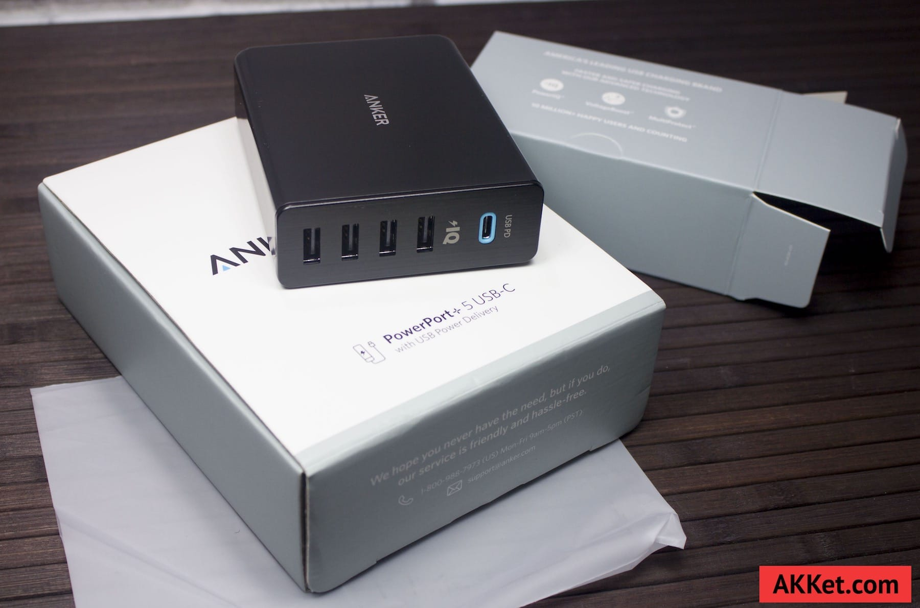 Anker PowerPort+ 5 USB-C Review Russia AKKet.com Charge iPhone 80