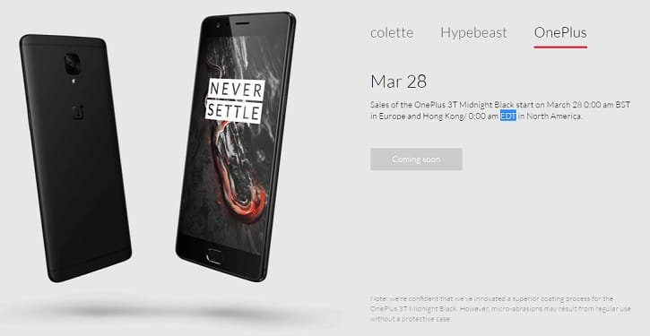 OnePLus 3T Midnight Black Buy