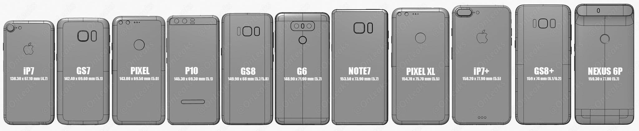 Samsung Galaxy S7 size iPhone 7 Plus 1