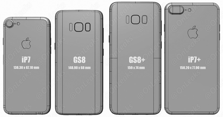 Samsung Galaxy S7 size iPhone 7 Plus 2