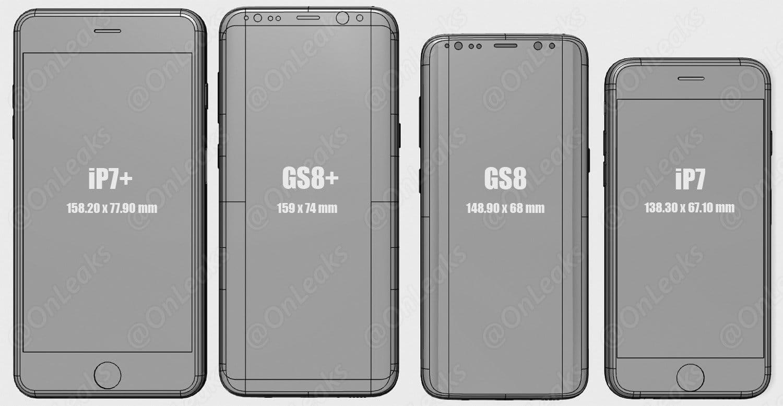 Samsung Galaxy S7 size iPhone 7 Plus 3