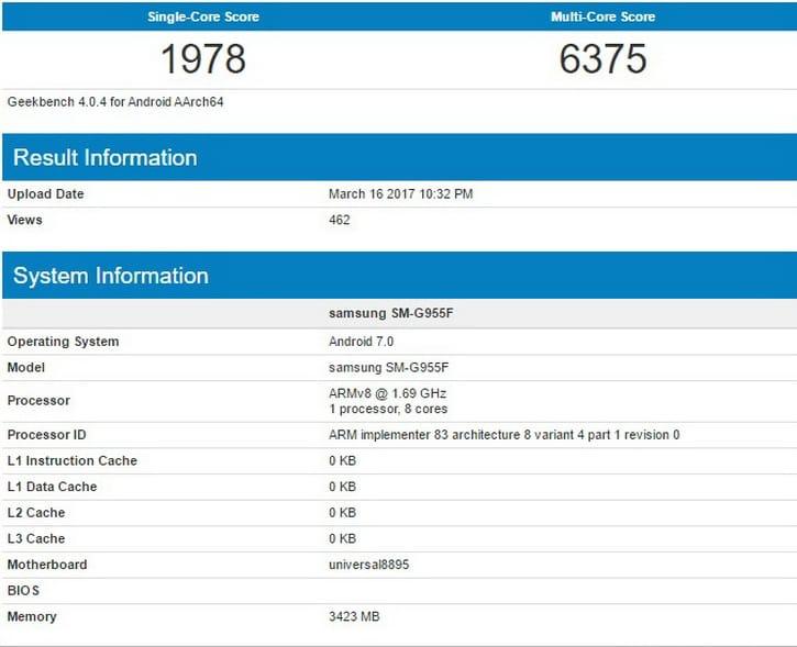 Samsung Galaxy S8+ Exynos 8895